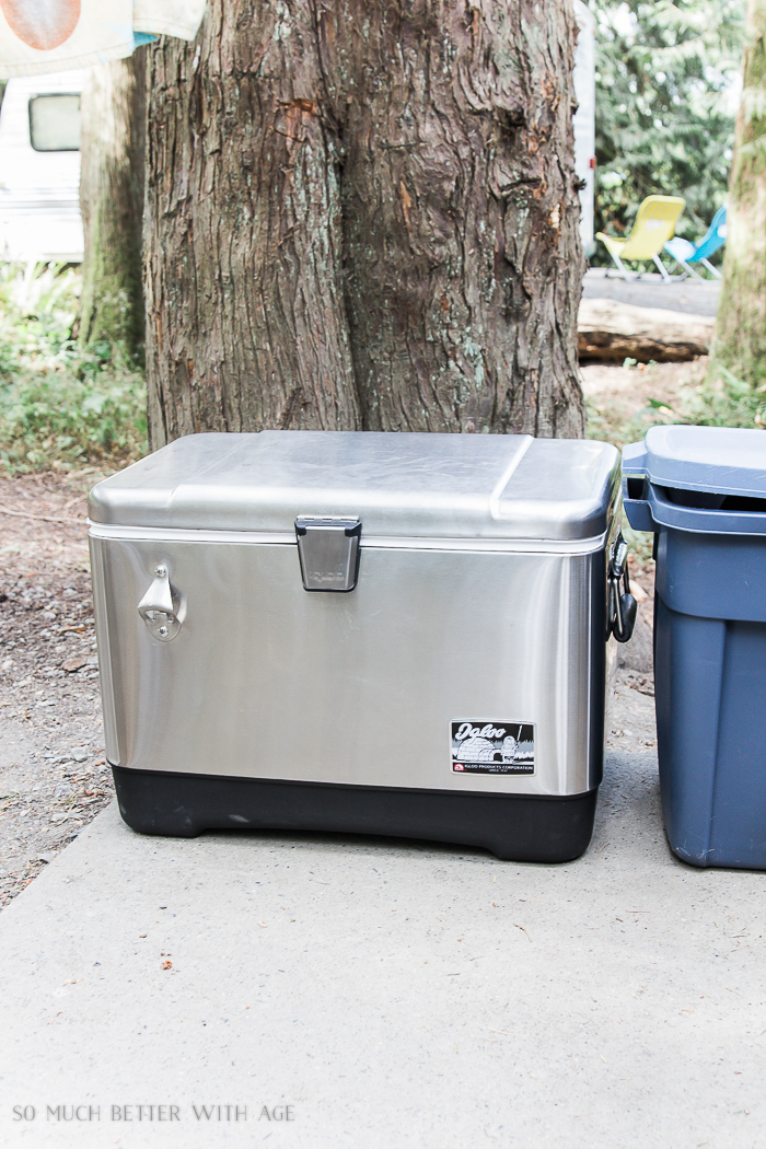 stainless steel cooler / The Beginner's Guide to Camping - Everything You Need to Take Camping