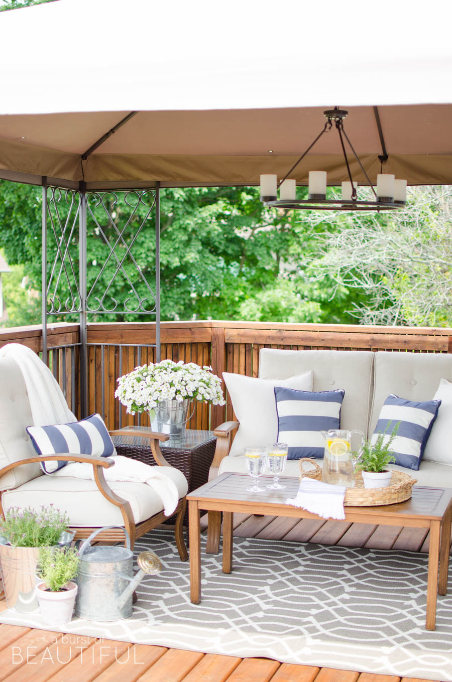 A Burst of Beautiful - 5 Outdoor Spaces with a French Vintage Vibe