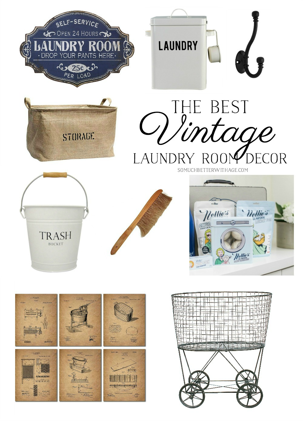 The Best Vintage Laundry Room Decor + Giveaway | So Much ...
