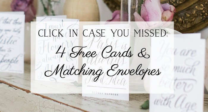 Four free cards and matching envelopes - So Much Better With Age