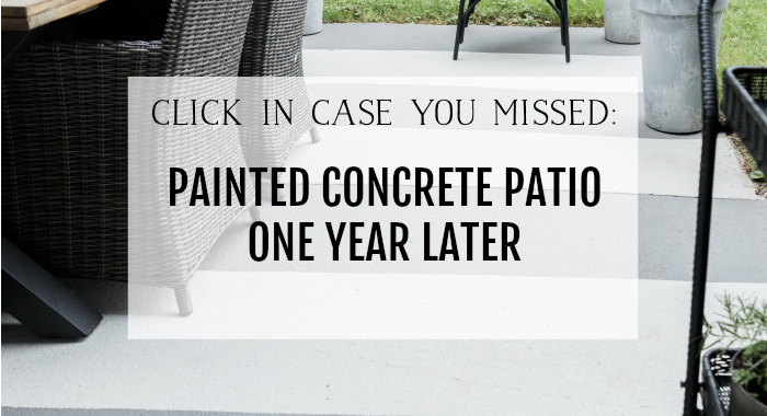 Painted concrete patio one year later poster.