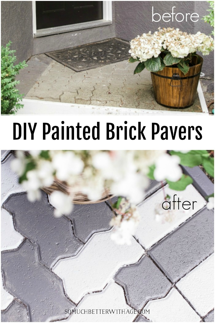 DIY Painted Brick Pavers - So Much Better With Age