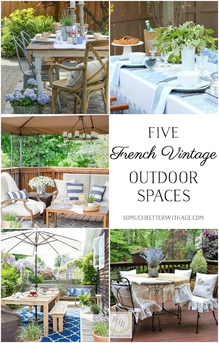 Five French Vintage Outdoor Spaces.