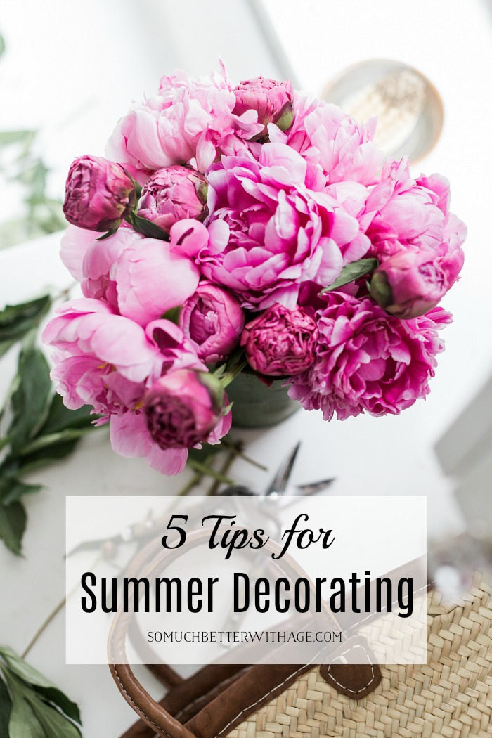 5 tips for summer decorating poster.
