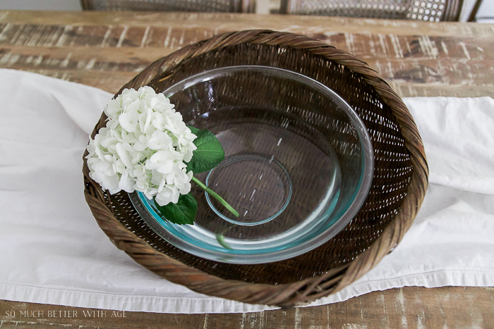 French Vintage Summer Tour and Simple Basket Centrepiece - So Much Better With Age