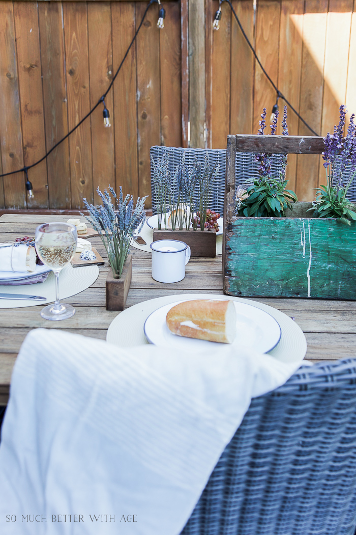 Lavender Outdoor Summer Table Setting - So Much Better With Age