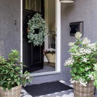 Front Porch Makeover with Painted Paver Stones