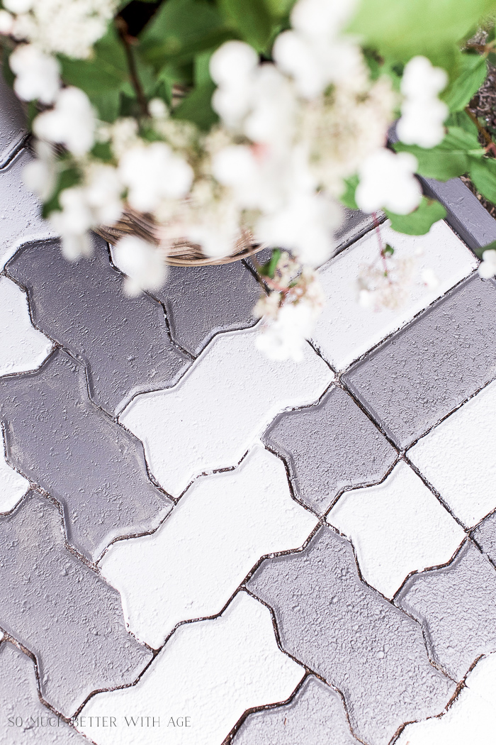 Painted Brick Pavers - So Much Better With Age