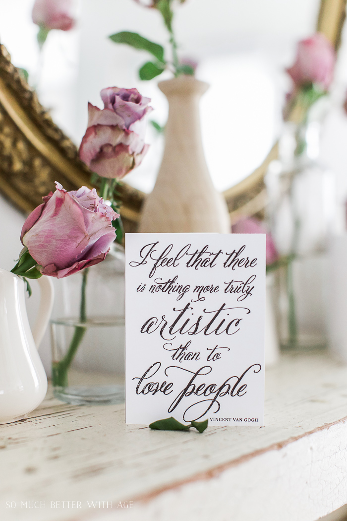 Van Gogh quote- Free Printable Cards & Matching Envelopes - So Much Better With Age