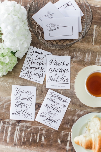 Free Printable Cards & Matching Envelopes – You Are So Much Better With Age!