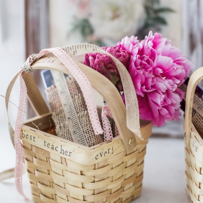 The Best Teacher Ever Stamped Gift Basket