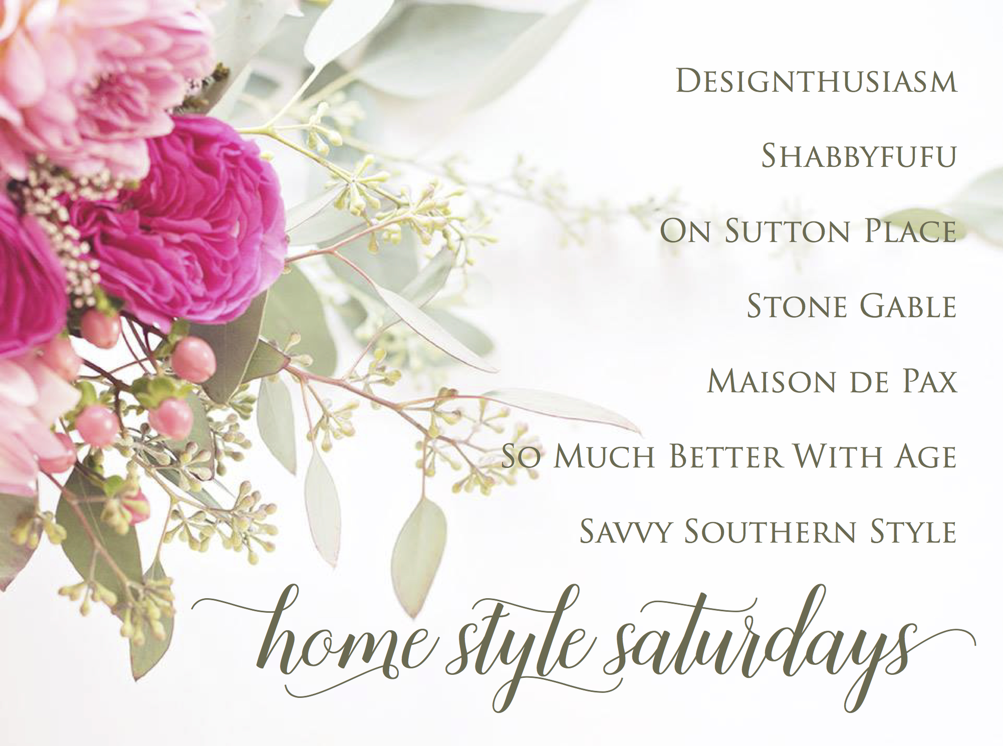 Home Style Saturdays - So Much Better With Age