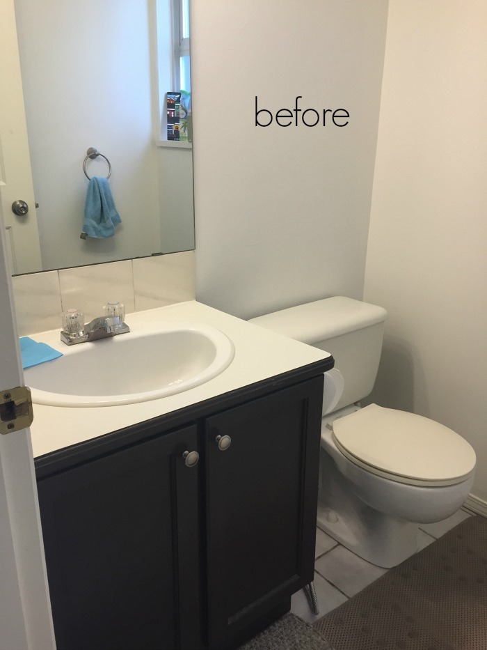 Black, white & French powder room/bathroom makeover - So Much Better With Age