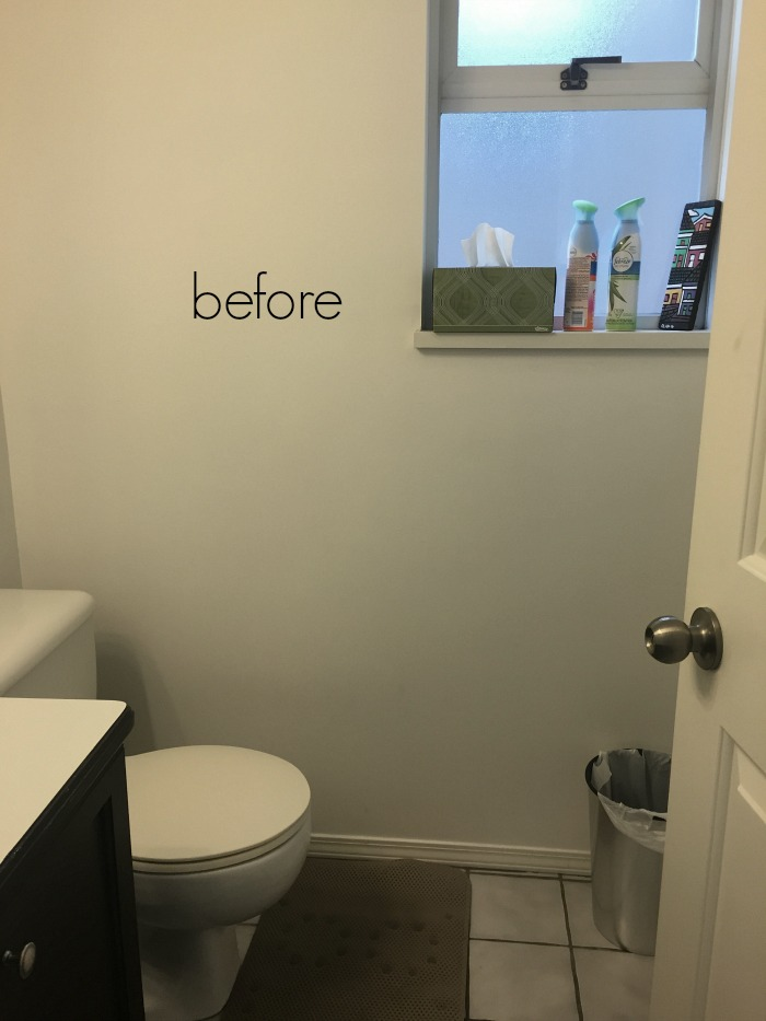 Black white french bathroom makeover / before bathroom makeover - So Much Better With Age