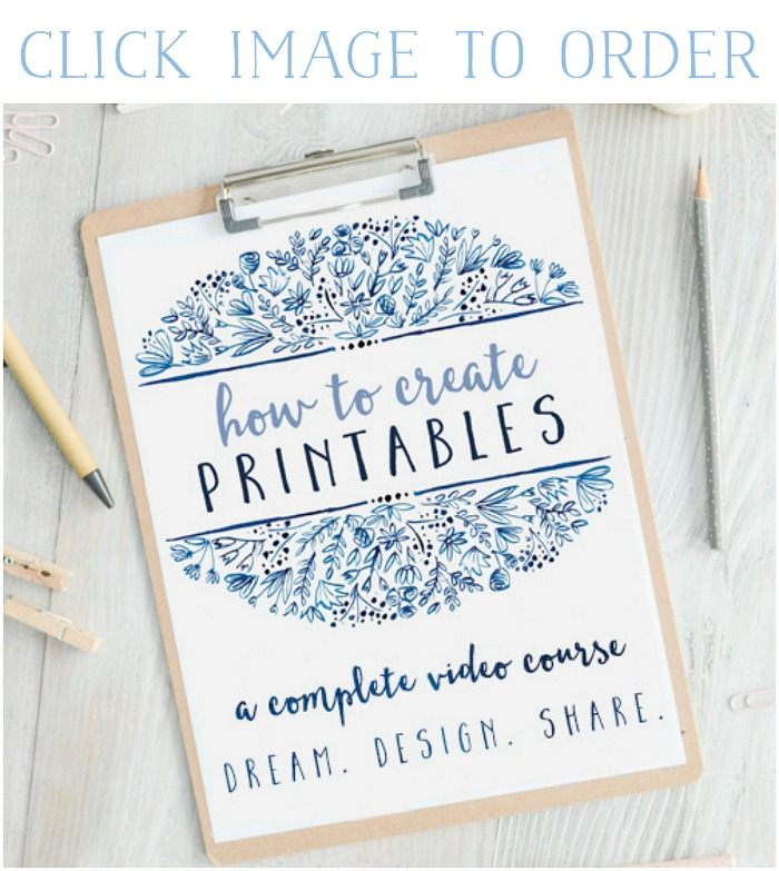How to Create Printables Course