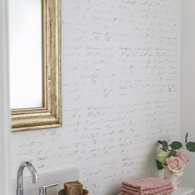 Black, White & French Powder Room Makeover