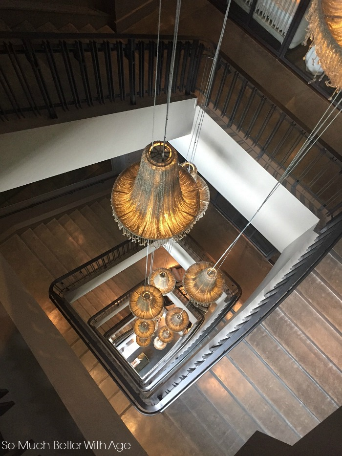 6 floors with chandeliers - Restoration Hardware Design Gallery- So Much Better With Age