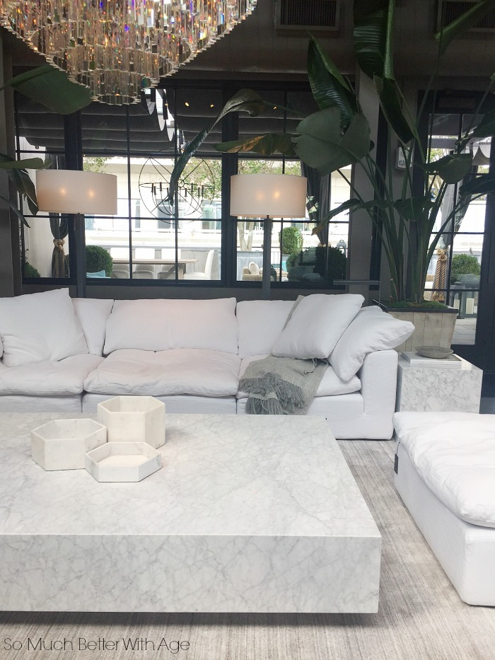 Modern white outdoor furniture - Restoration Hardware- So Much Better With Age