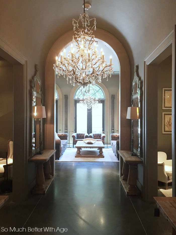 chandelier Design Gallery in Atlanta, Restoration Hardware -- So Much Better With Age