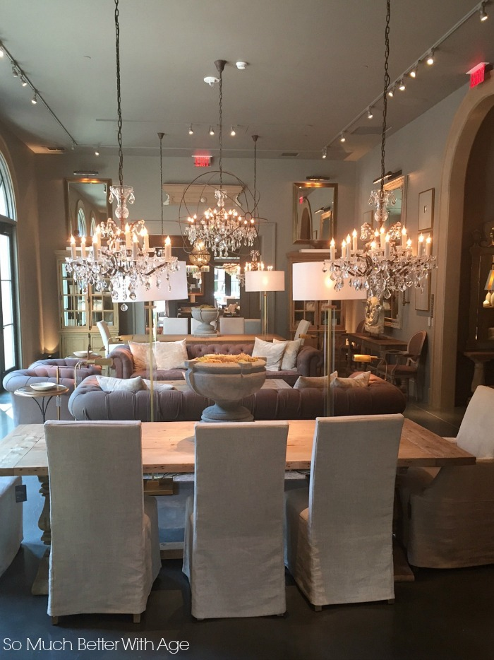 Chandeliers, French vintage - Restoration Hardware Design Gallery Atlanta- So Much Better With Age