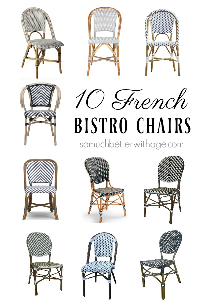 10 French Bistro Chairs - So Much Better With Age