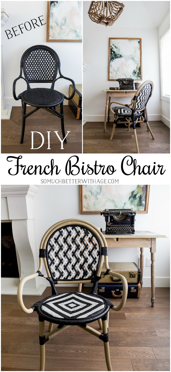 DIY French Bistro Chair graphic.