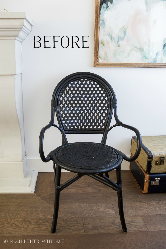 DIY French Bistro Chair/Ikea Almsta chair - So Much Better With Age #frenchdecor #frenchvintage