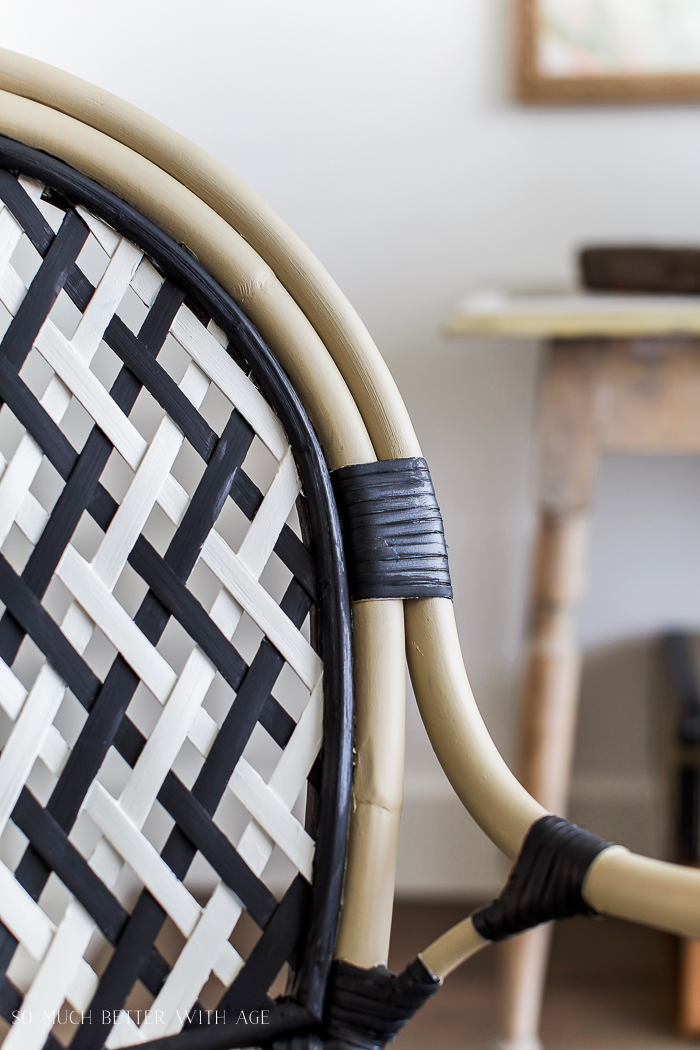 DIY French Bistro Chair/rattan and wicker ikea chair - So Much Better With Age #frenchdecor #frenchvintage