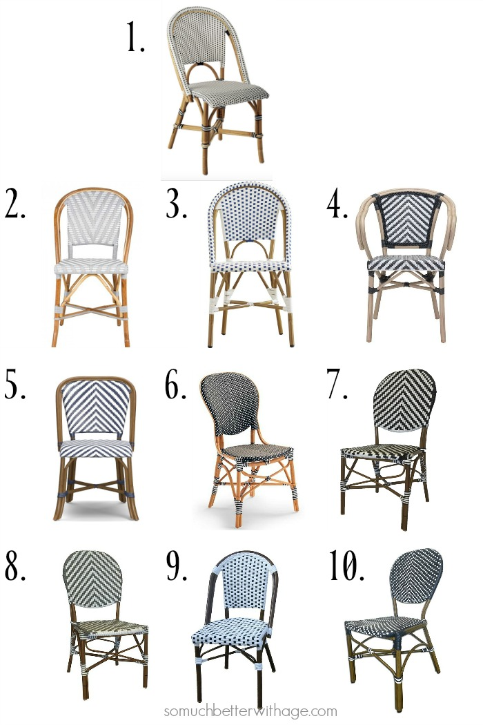 10 french bistro chairs/bistro chairs - So Much Better With Age #frenchdecore #frenchvintage