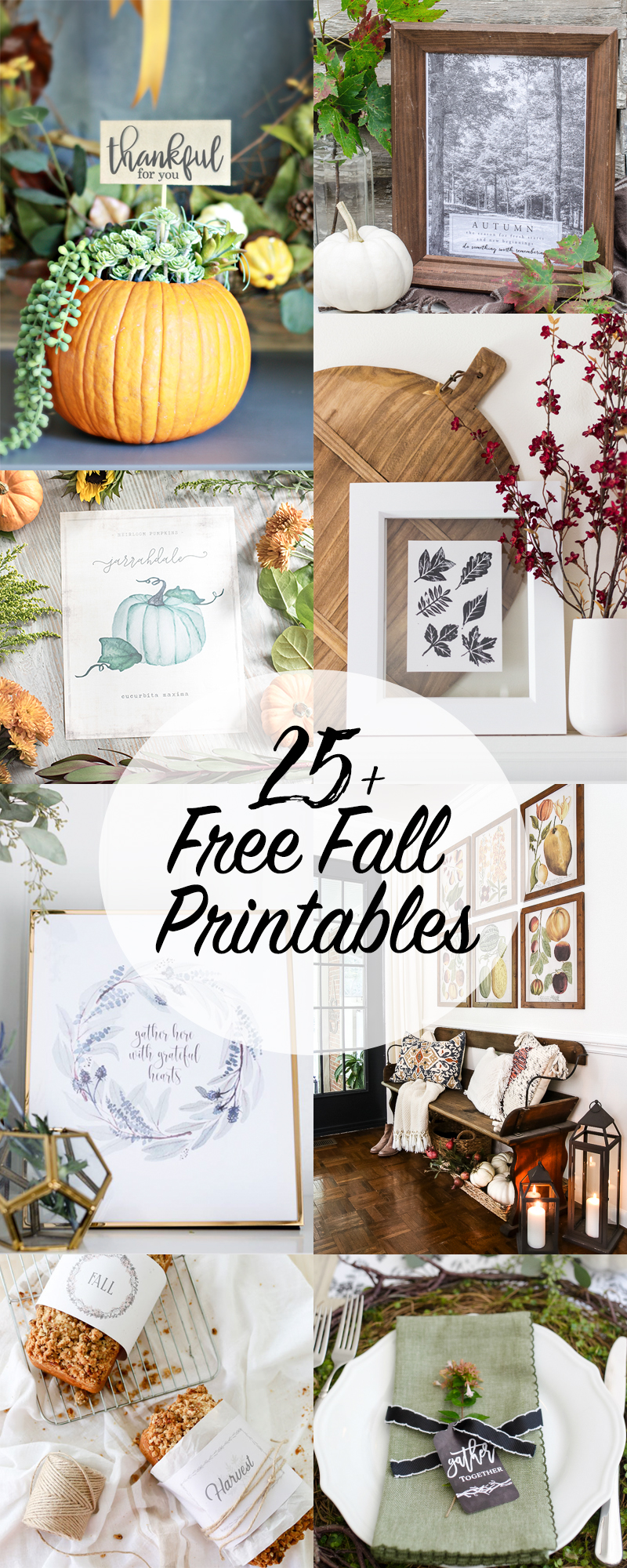 25+ Free Fall Printables - So Much Better With Age