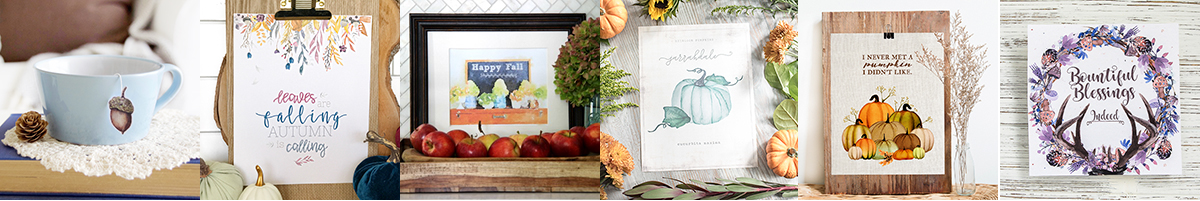 Autumn printable blogger posters.