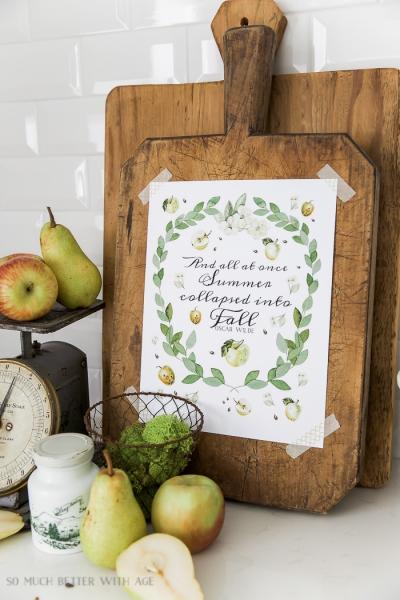 Apples and Eucalyptus Free Fall Printable