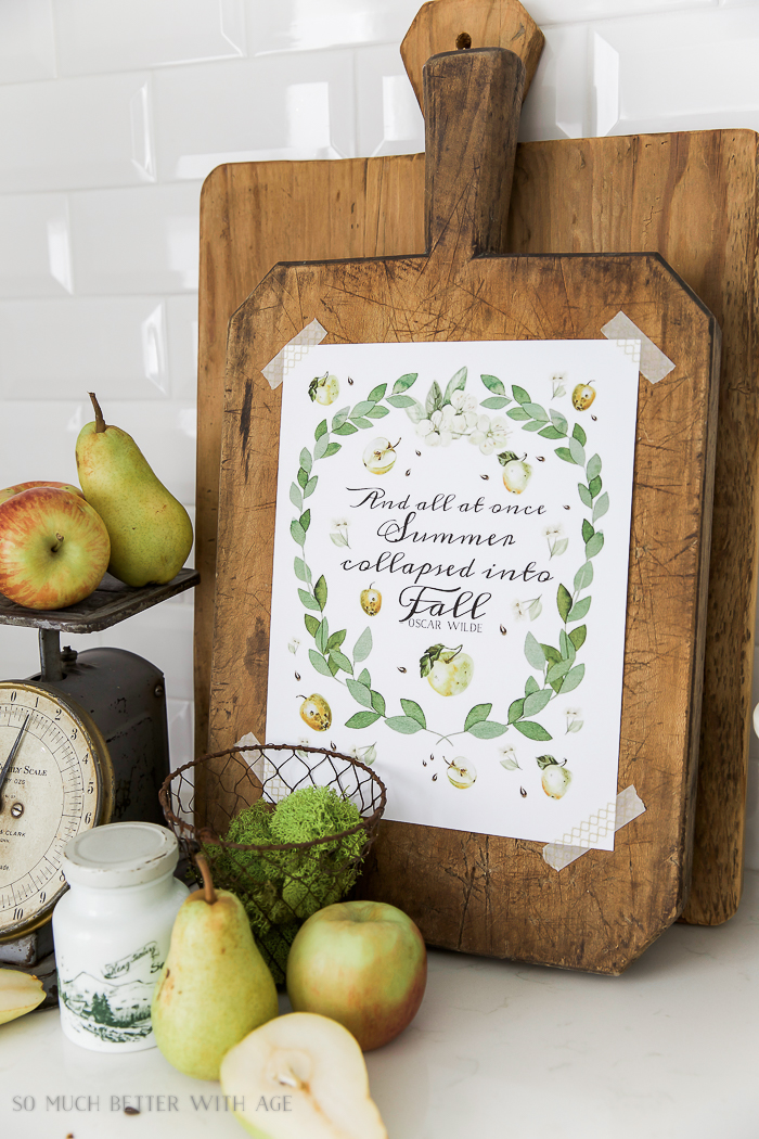 Apples and Eucalyptus Free Fall Printable