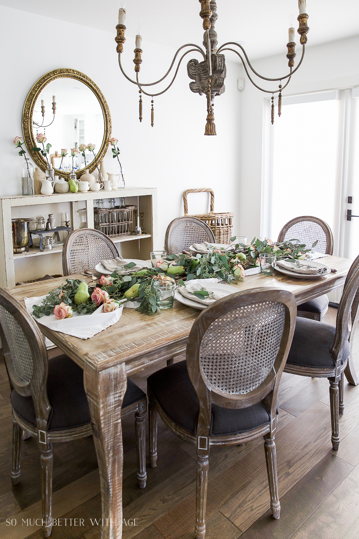 All My Fall Posts 2011-2017/ French Vintage dining table - So Much Better With Age