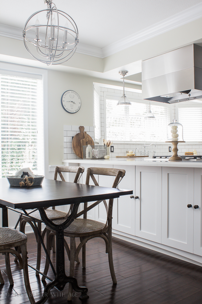 All My Fall Posts 2011-2017/ white industrial kitchen - So Much Better With Age
