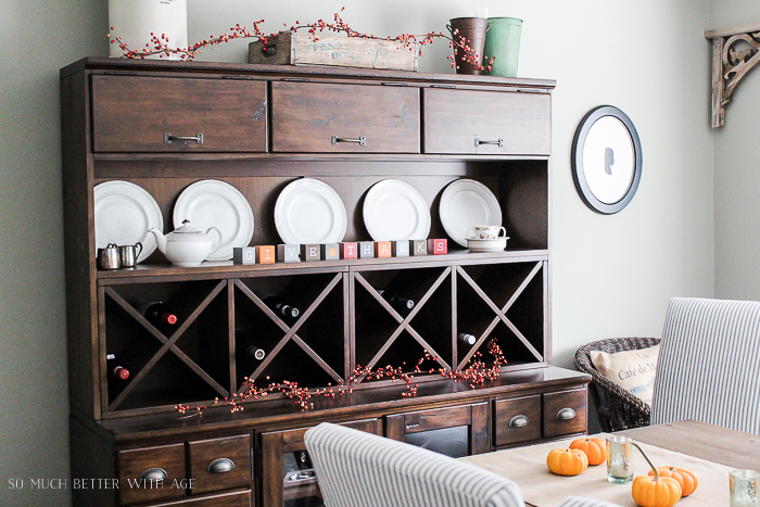 All My Fall Posts 2011-2017/ Pottery Barn cabinet - So Much Better With Age