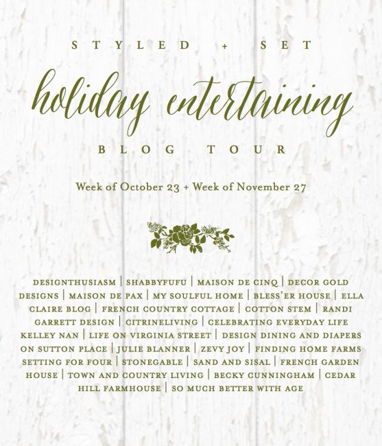 Styled + Set Holidaying Entertaining Blog Tour