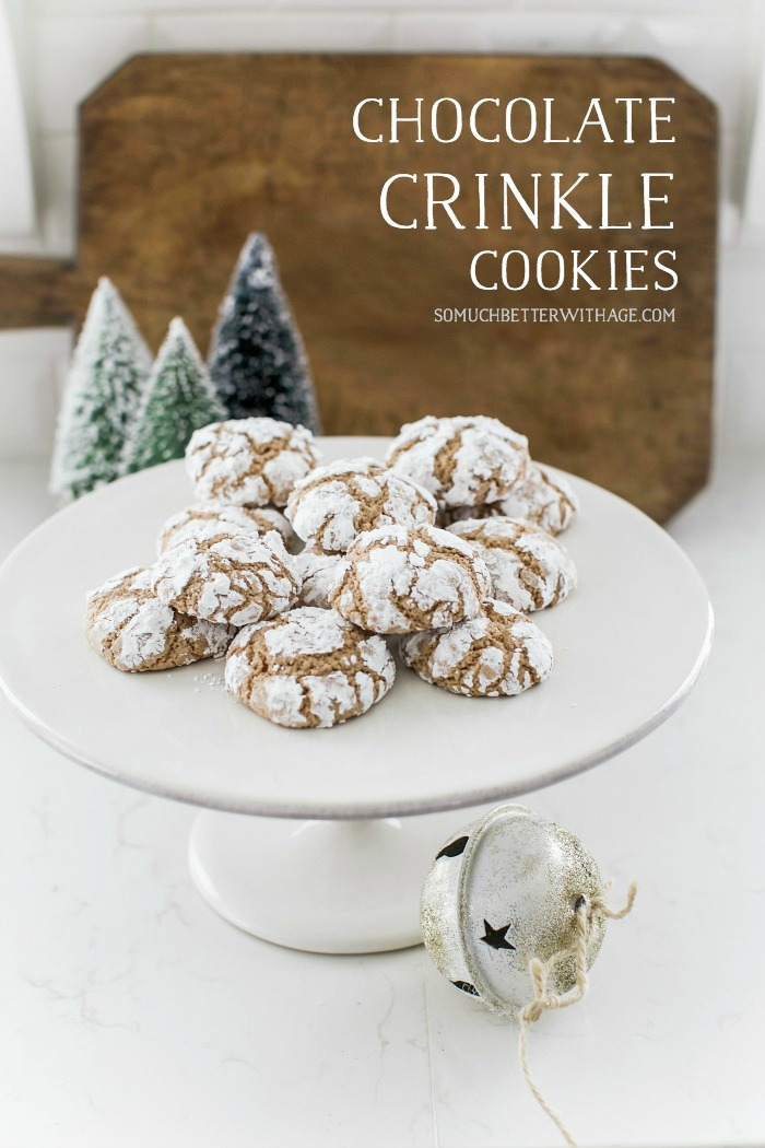 Chocolate Crinkle Cookies for Christmas - So Much Better With Age
