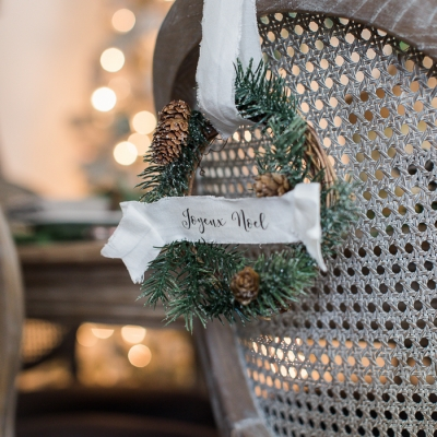DIY Evergreen Wreaths and Fabric Banners (Free Printables)