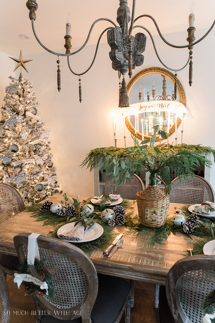 French Christmas Dining Room/chandelier - So Much Better With Age