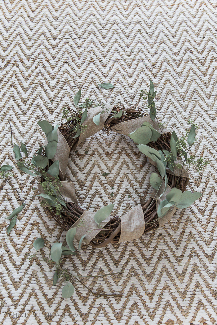 Easy and Beautiful Grapevine Wreath/add dried seeded eucalyptus - So Much Better With Age