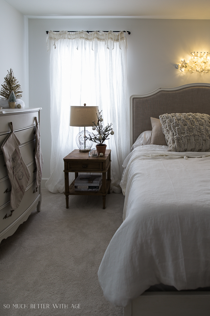 French Vintage Christmas Nights Tour / crown at the head of the bed - So Much Better With Age