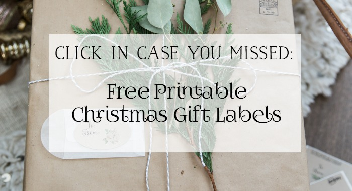 Free Printables - Christmas Gift Labels