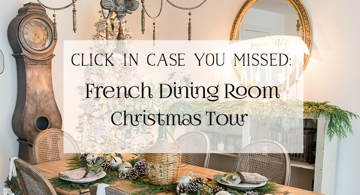 French Dining Room Christmas Tour