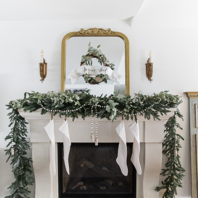 French Vintage Christmas Living Room and Mantel Tour