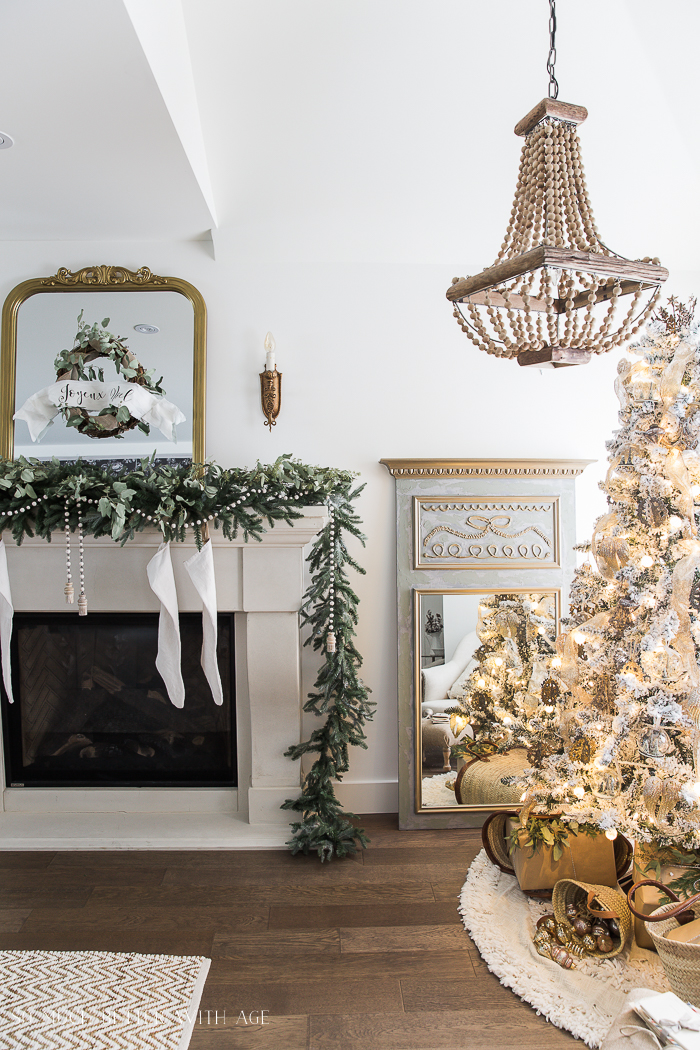 French Vintage Christmas Living Room and Mantel Tour - So Much Better With Age