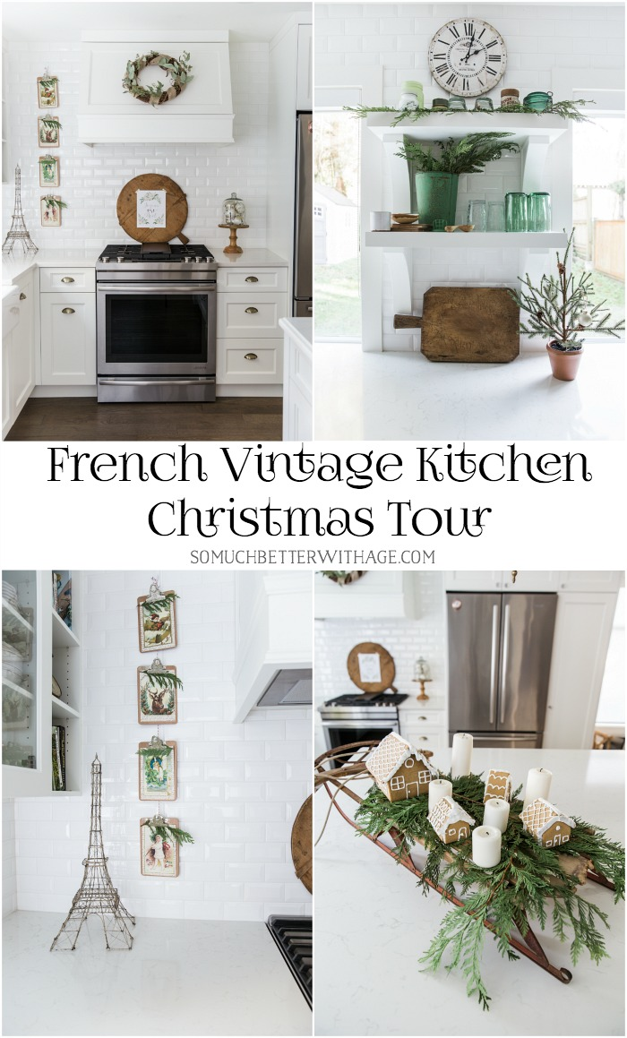 French Vintage Kitchen Christmas Tour - So Much Better With Age