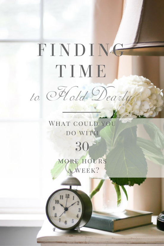 Finding Time to Hold Dearly