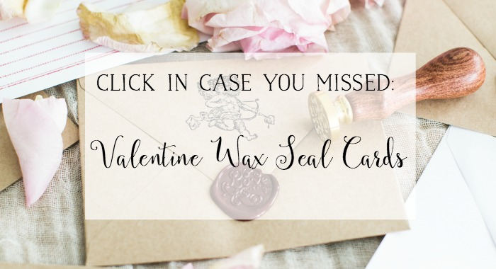 Valentine Wax Seal Cards poster.