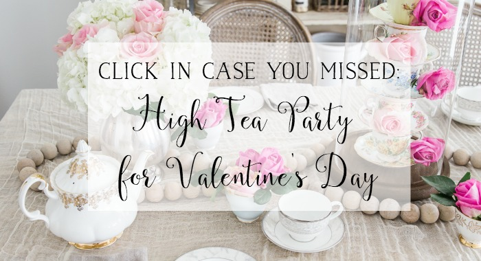 High Tea Party For Valentine's Day poster.